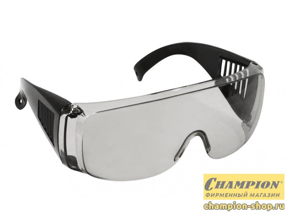 Очки защитные Champion с дужками дымчатые