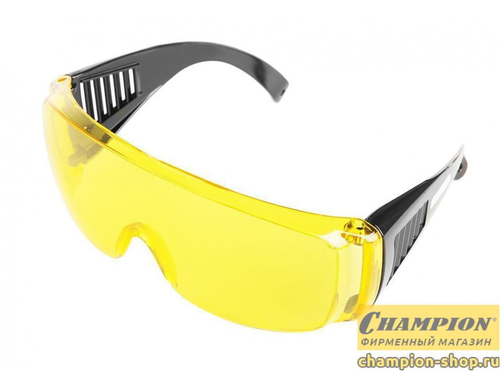 Очки защитные Champion с дужками желтые