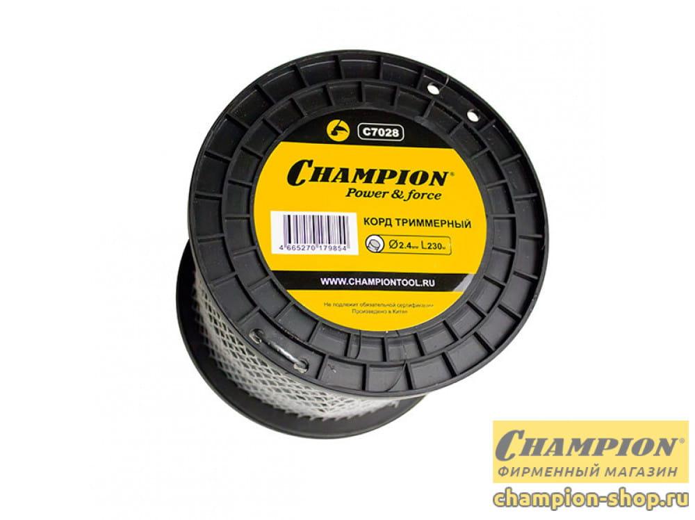 Корд триммерный Champion Round Pro 2.4 мм х 230 м (круглый) + нож