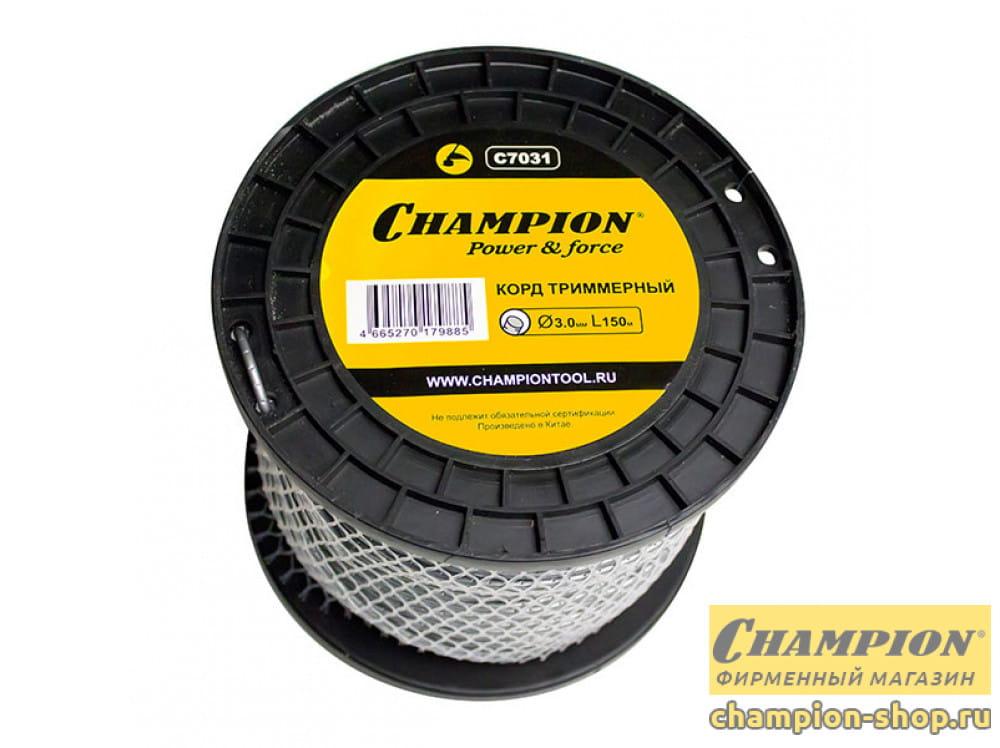 Корд триммерный Champion Round Pro 3.0 мм х 150 м (круглый) + нож