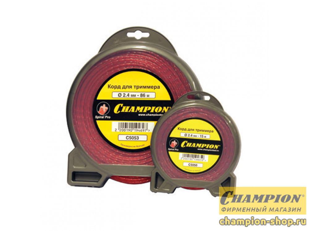 Корд триммерный Champion Spiral Pro  2.4 мм х 86 м (витой)