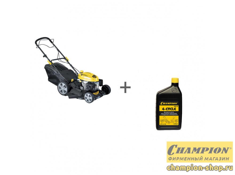 Газонокосилка бензиновая Champion LM4630 + масло в подарок!