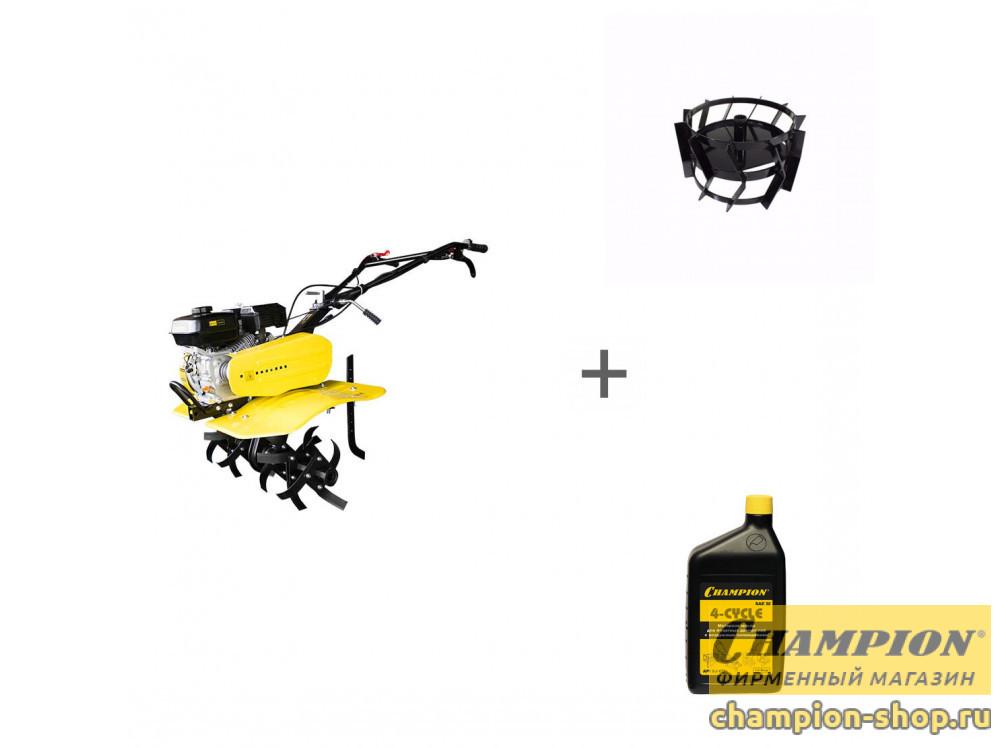 Культиватор бензиновый Champion ВC 7714 + масло + грунтозацепы в подарок!