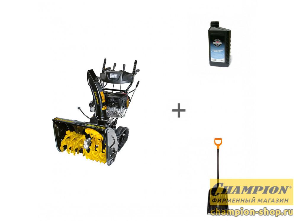 Снегоуборщик бензиновый Champion STT1170E + лопата + масло в подарок!