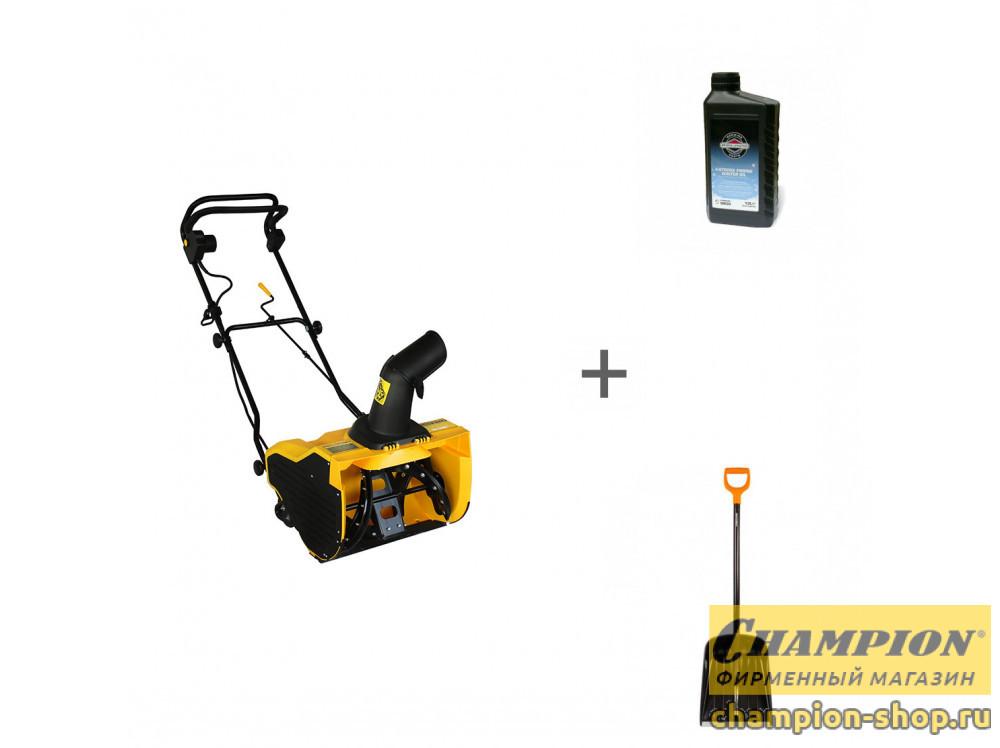 Снегоуборщик электрический Champion STE 1650 + лопата + масло в подарок!
