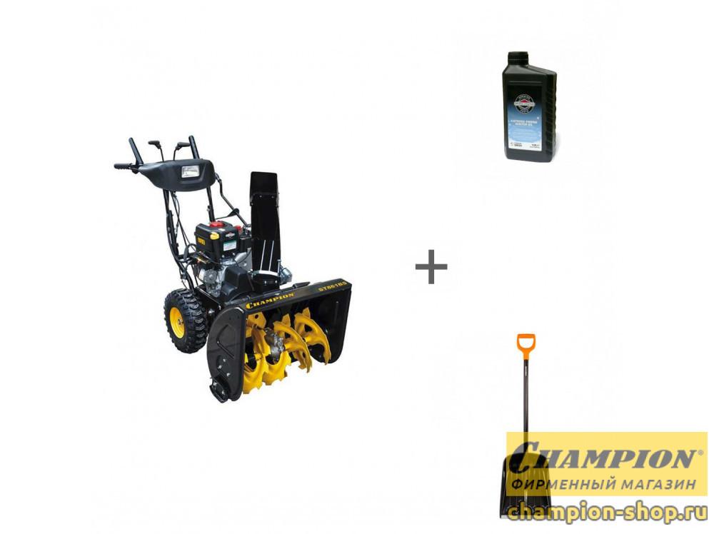 Снегоуборщик бензиновый Champion ST861BS + лопата + масло в подарок!