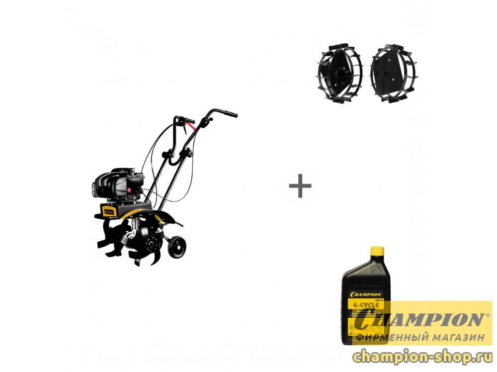 Культиватор бензиновый Champion ВC5602BS + грунтозацепы + масло в подарок!