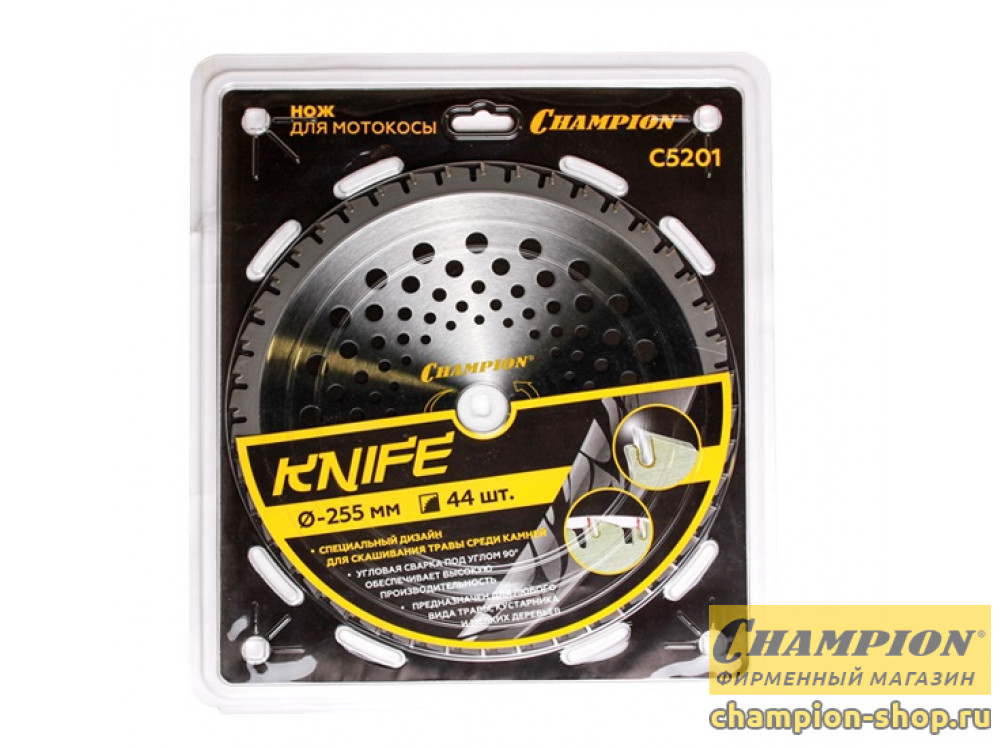 Нож с зубцами Champion Knife (255 мм; 25.4 мм; 44Z)