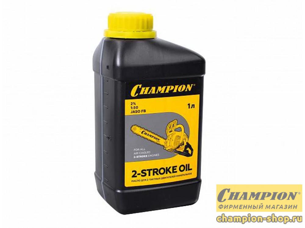 Масло для 2-тактных двигателей минеральное Champion JASO FB 1 л