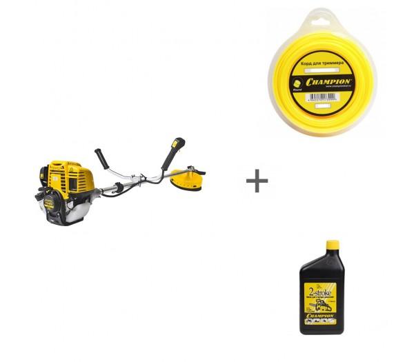 Триммер бензиновый Champion Т374FS + корд и масло в подарок!