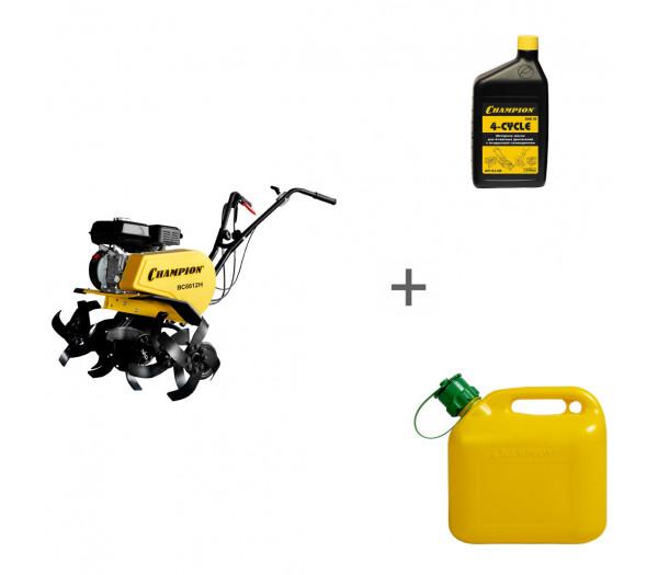 Культиватор бензиновый Champion BC 6612H + канистра + масло + в подарок!