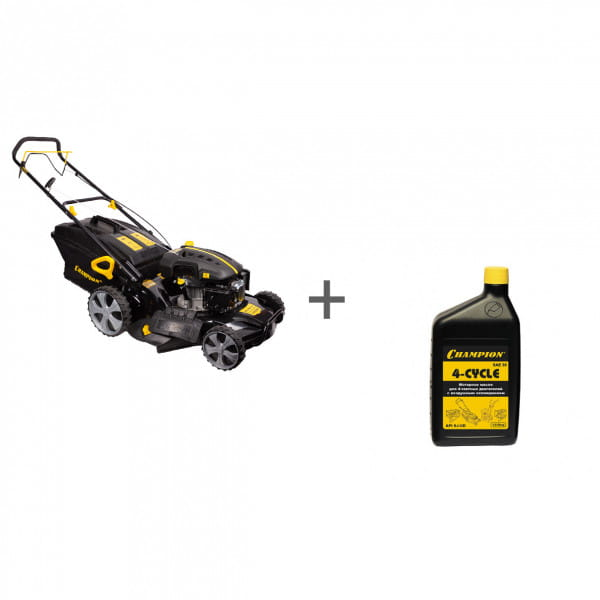Газонокосилка бензиновая Champion LM5345 + масло в подарок!