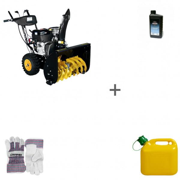 Снегоуборщик бензиновый Champion ST1170BS + масло + канистра + перчатки в подарок!
