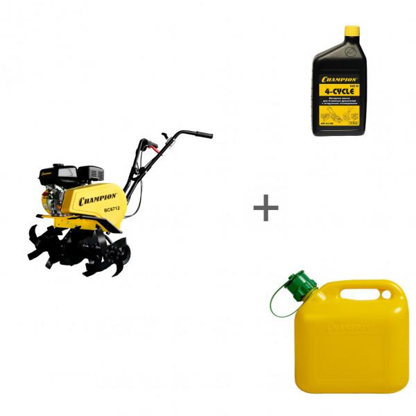 Культиватор бензиновый Champion ВC 6712 + канистра + масло в подарок!